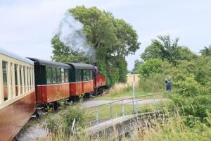 Depuis les locomotives ...