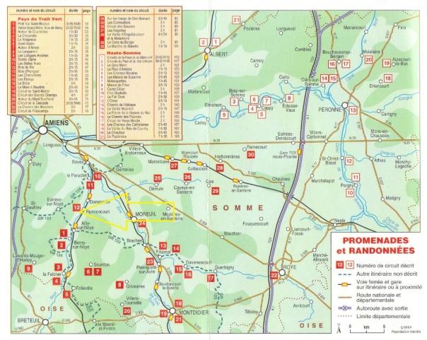 00_Topo-guide La Somme - Le Pays du Trait Vert - La Haute SommeCARTE-Remiencourt